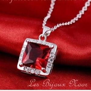 💥 SALE - Red necklace in Silver 925